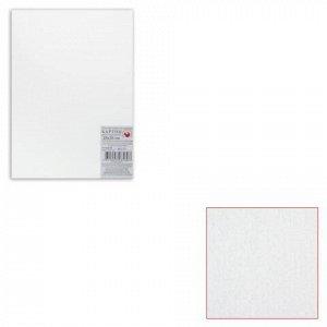 Картон белый грунтованный для живописи, 25х35 см, двусторонний, толщина 2 мм, акриловый грунт
