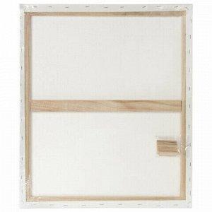 Холст на подрамнике BRAUBERG ART DEBUT, 50х60см, грунтованный, 100% хлопок, мелкое зерно, 191025