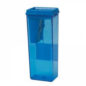 Точилка BEIFA (Бэйфа), с контейнером, прямоугольная, пластиковая, в дисплее, ассорти, APS112