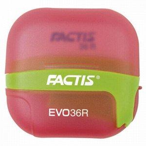 Точилка FACTIS EVO36R (Испания), с контейнером и стирательной резинкой, 50x50x25 мм, ассорти, F4707116