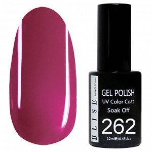 Гель-лак BLISE 262- Красновато пурпурный,плотный