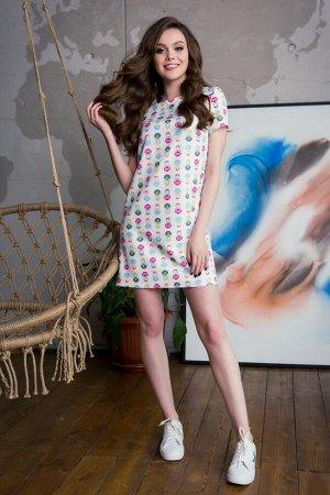 Платье с матрешками
