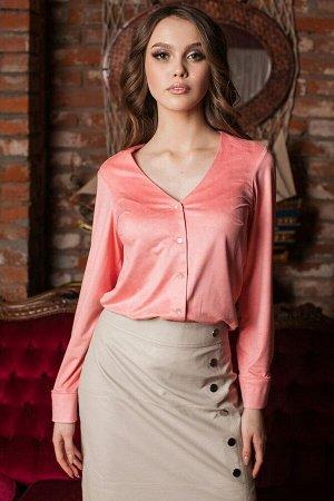 Блуза из замши