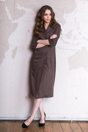Платье Материал: Неэластичная костюмная ткань. Платье без подклада. Состав: вискоза - 55%, хлопок - 25%, полиэстер - 20%. Цвет: как на фото, размеры 42-48. Длина от талии до низа изделия67 см. Длина