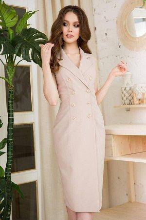 Платье Материал: Неэластичная костюмная ткань. Платье без подклада. Состав: вискоза - 55%, хлопок - 25%, полиэстер - 20%. Цвет: как на фото, размеры 42-48. Длина от талии до низа изделия66 см. Длина