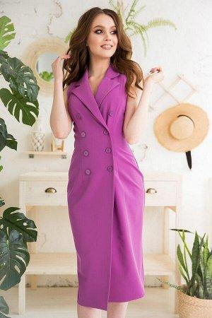 Платье Материал: Неэластичная костюмная ткань. Платье без подклада. Состав: вискоза - 55%, хлопок - 25%, полиэстер - 20%. Цвет: как на фото, размеры 42-48. Длина от талии до низа изделия 66 см. Длина