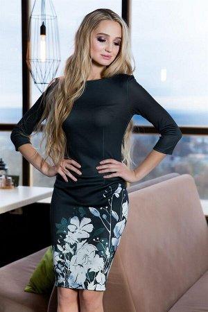 Платье Материал:плотный эластичный трикотаж MILANO. Состав: 60% вискоза, 40% полиэстер. Цветизделияможет отличаться на полтона от фотографии,размеры 42-56. Длина от талии до низа юбки 58 см. Длин