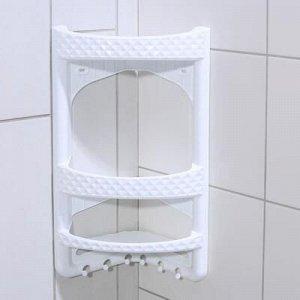 Полка угловая для ванной комнаты, цвет МИКС
