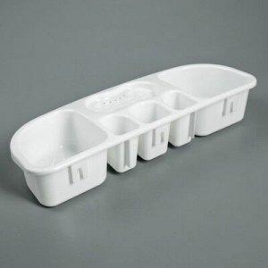 Полка для ванной комнаты, 38,5?14,5?7 см, цвет белый
