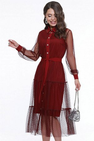Платье Премьерный показ, бордо