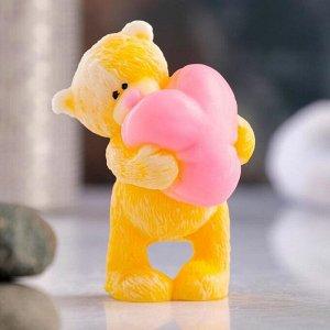 """Фигурное мыло """"Мишка с большим сердцем"""" 77гр"""