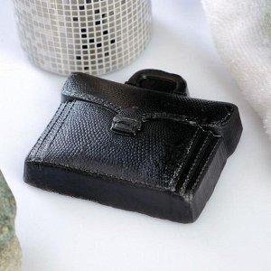 """Мыло фигурное """"Кожаный портфель"""" чёрный, 100гр"""