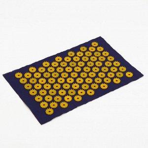Аппликатор игольчатый «Коврик», 85 колючек, синий, 25х40 см