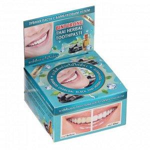 Зубная паста Binturong Bamboo Charcoal Black Toothpaste, с бамбуковым углем, 33 г