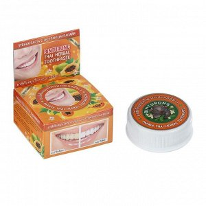 Зубная паста Binturong Papaya Thai Herbal с экстрактом папайи, 33 г