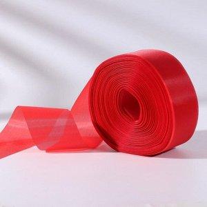 Лента капроновая, 50 мм, 100 ± 5 м, цвет красный