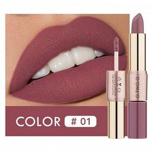 Помада O.TWO.O Rose Gold 2 in 1 Matte Lipstic & Liquid Lipstik № 1 3.5 g