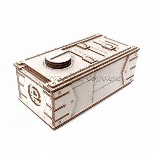 Конструктор деревянный Копилка-сейф, 59 дет