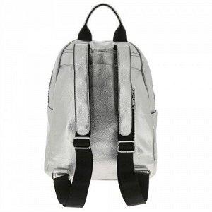 Женский кожаный рюкзак PS008 SILVER WHITE