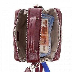 Женская кожаная сумка 3326 BORDO