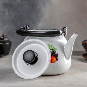 Чайник, 3,5 л, цвет белый, деколь МИКС