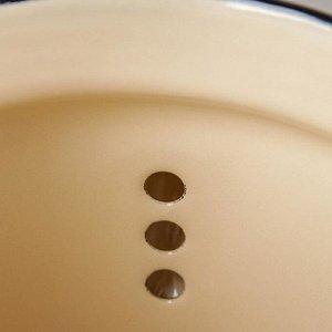 Чайник цилиндрический, 2 л, цвет коричневый, деколь МИКС
