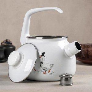 Чайник «Гуси», 2,5 л, со свистком