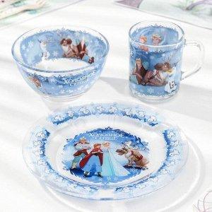 Набор посуды детский Priority «Холодное сердце», 3 предмета