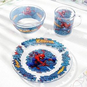 Набор посуды детский Priority «Человек паук», 3 предмета