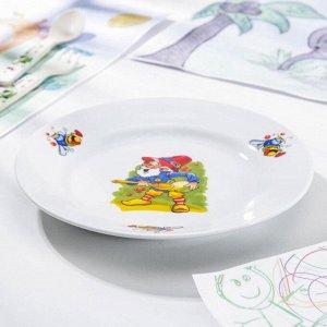 Тарелка мелкая Добрушский фарфоровый завод «Лесовичок», 20 см