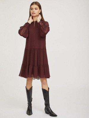 Струящееся платье в горошек