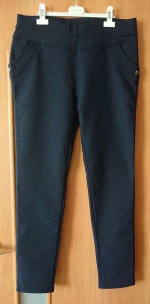 Брюки-утяжка утепленные, темно-синий 56-58 размер