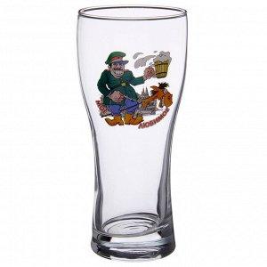 Бокал для пива GiDGLASS «Паб. По пивку», 500 мл? рисунок МИКС
