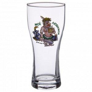 """Бокал для пива 500 мл """"Паб. По пивку"""", рисунок МИКС"""