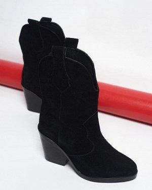 Черные замшевые ботильоны Kazak Ankle