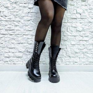 Черные кожаные ботинки МИЛИ24