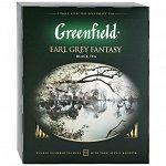 Чай Гринфилд Greenfield Earl Grey Fantasy черный с ароматом бергамота 100 пакетиков по 2 г
