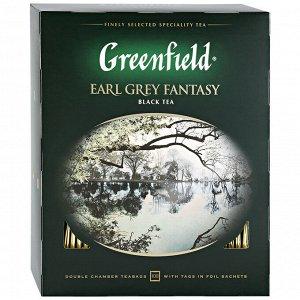 Чай черный Бергамот Гринфилд Greenfield Earl Grey Fantasy, 100 пак