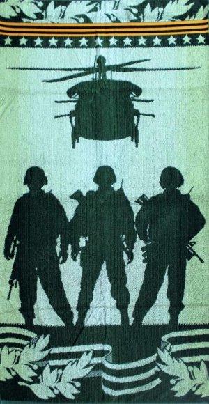 Полотенце махровое Солдаты