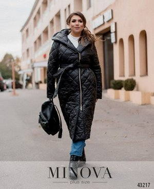 Пальто №18541-1-черный