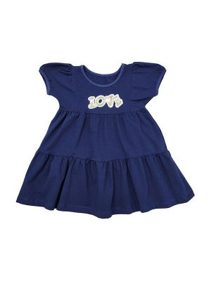 Платье Состав хлопок 92%, лайкра 8% Нежное красивое детское платье от VEDDI для девочек. Выполнено из натурального хлопка с добавлением лайкры. Свободное и практичное, удобное ,элегантное с аппликацие
