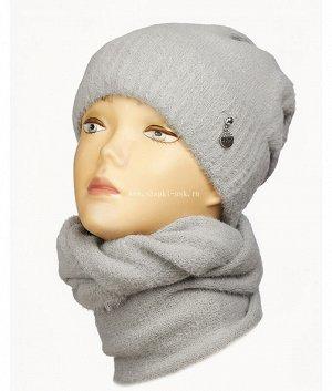 Травка флис (шапка+снуд) Комплект