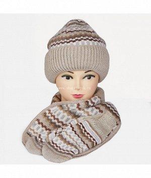 Пятиклинка-колпак тройка с отв. (колпак+шарф+варежки) Комплект