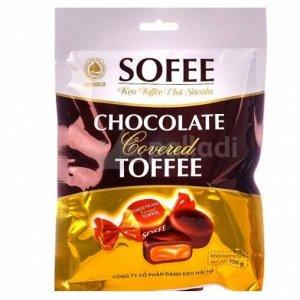 """Конфеты тоффи """"Sofee"""" покрытые шоколадом, 150 гр"""