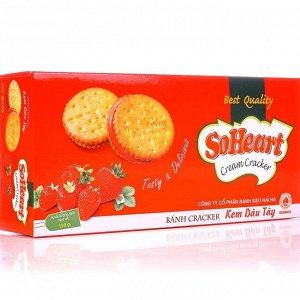 """Печенье со вкусом клубники """"Soheart strawberry"""", 150гр"""