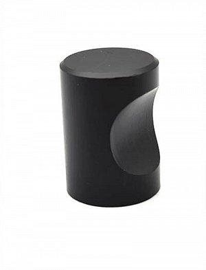 Ручка кнобд.18мм черный матовый (материал: алюминий)1309К  .