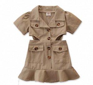 Детское платье, цвет хаки
