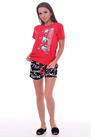 Пижама женская 1-200а (красный)