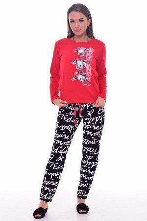 Пижама женская 1-197а (красный)