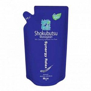 """LION """"Shokubutsu"""" Крем-гель для душа 500мл (мягкая упак) """"Synergy Relax"""" мужской раслабляющий"""